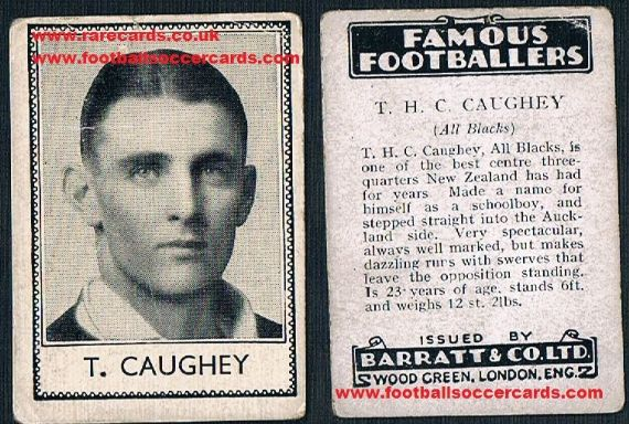 1935 Barratt All Blacks NZ rugby Caughey